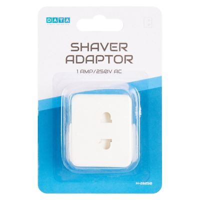 New Shaver Adapter 1 AMP/ 250V AC High Quality, Travel Holiday UK