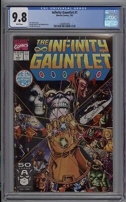 Infinity Gauntlet # 1 CGC 9.8 NM/MT White Pages 1991 Jim Starlin George Perez