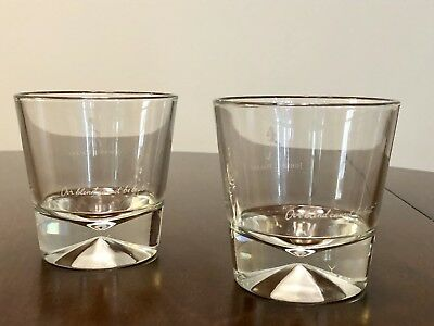 Johnnie Walker Black Label Limited Edition Whiskey Scotch Glasses Cups Lot Set 2