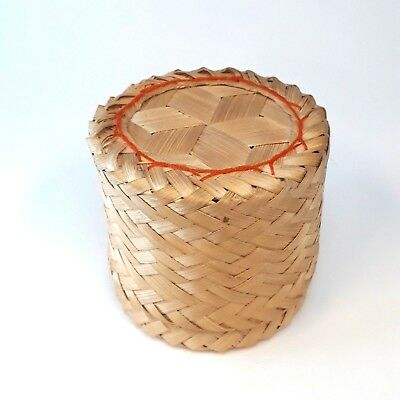 Home Arts & Crafts 2019 Fashion Box Weave Handcraft Basketry Wood Natural Trinket Vintage Thai Handmade Basketry & Chair Caning
