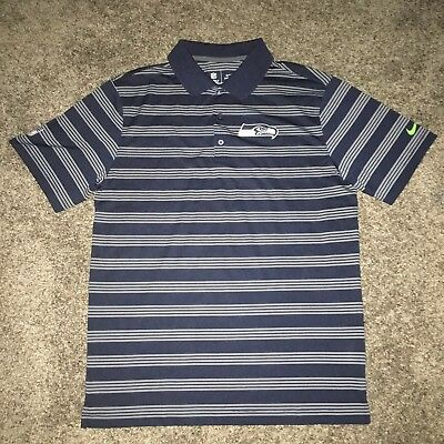 Nike Seattle Seahawks NFL Dri Fit Golf Performance Preseason Polo Shirt M d956686b9