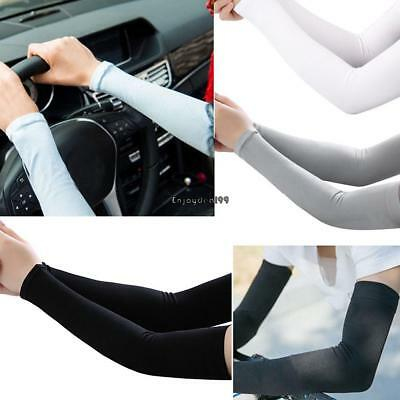 Cooling Arm Sleeves Cover UV Sun Protection Outdoor Ice Silk Sleeves OO55