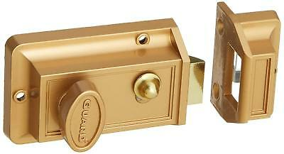 Guard Security Solid Brass Rim Night Latch Door Lock Model # 202 (2 Packs)