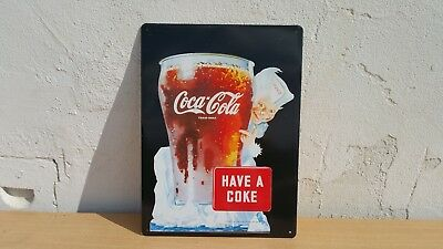 Altes1997 Drink Coca Cola Trade-Mark Company Werbeschild Blechschild Have A Coke