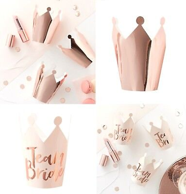 HEN PARTY Rose Gold Party CROWNS x 5 Bride to Be Party Birthday VIP 2 Styles