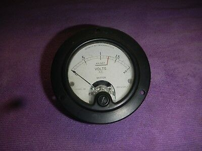 Vintage Weston Electric Model 301 DC Volt Gauge Ext Resitor Ohms per Volt