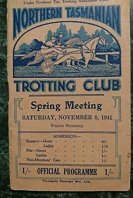 1941 Trotting Club Cup Race Book (Melbourne cup carnival)