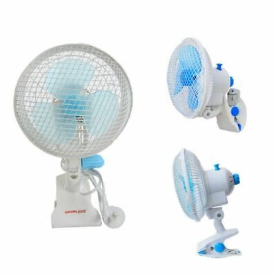 180mm Oscillating Hydroponic Fan With Clamp - Grow Tent Ventilation Fan