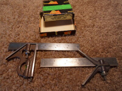 "2x Hardened Heads &  Blades 1925 Vtg BROWN & SHARPE 6 "" COMBINATION SQUARE SET"