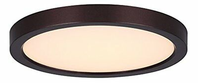 Canarm 7 In. Oil Rubbed Bronze LED Disc Flush Mount Light Fixture