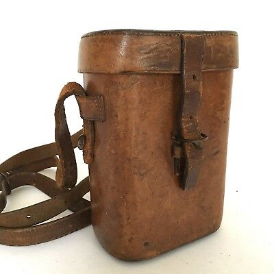 Antique Wwi Quality Ross London Leather Binocular Case