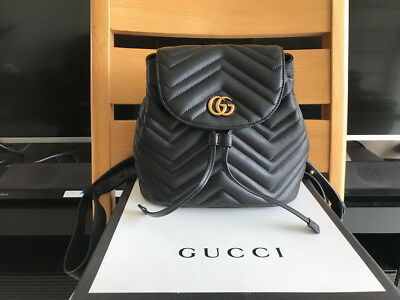1477ded05 GUCCI GG MARMONT Matelassé Leather Super Mini Bag in Black. Sold out ...