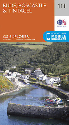 Bude , Boscastle and Tintagel Explorer Map 111 - OS - Ordnance Survey