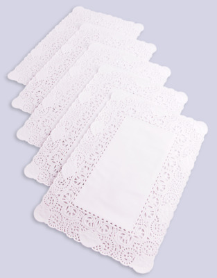 "Rectangular Paper Doilies Doyley Doylies 14""x10"" Oblong Tray Paper Pack of 250"