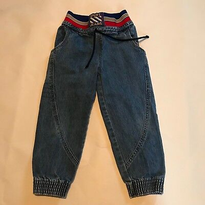 Vintage Little Levi Sport Boy Jean Size 4t Color Block Elastic Waist Denim RARE