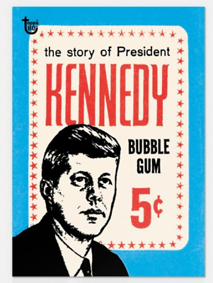 2018 Topps Wrapper Art #55 The Story of President John F Kennedy 1964 Card PS