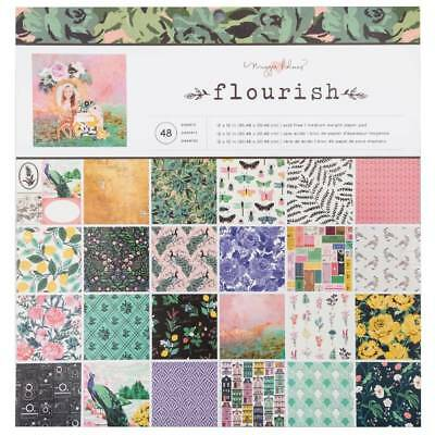 NEW American Crafts Maggie Holmes Flourish Paper Pad By Spotlight