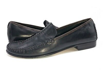 77592ef8086 Cole Haan Women s Black Leather Slip on Loafer Braided Toe Moc Shoes Size  ...