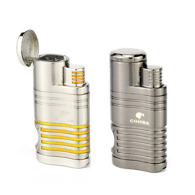 Cohiba Metal 4 Torch Jet Flame Cigar Cigarette Lighter Butane Windproof Lighter