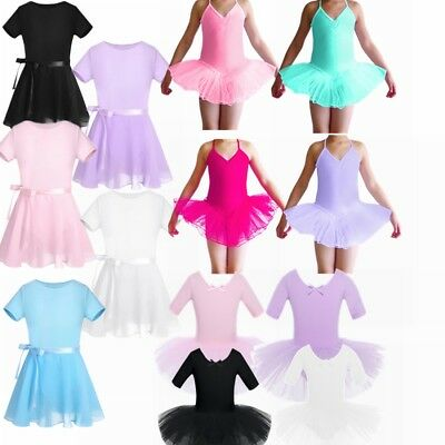 Toddler Girl Kid Gymnastics Dance Dress Ballerina Tutu Skirt Leotard Dancewear