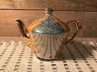 Iridescent Fired Japan Teapot Vintage