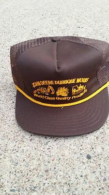 """Vintage John Deere Dubuque Works Vented Hat """"World Class Quality Products"""""""