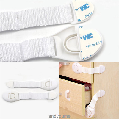 Child Kids Baby Care Safety Security Cabinet Locks Straps For Cabinet Drawer US