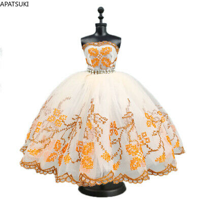 Purple Flower Dancing Costume Fashion Clothes For 11.5inch Doll Lace Dresses 1/6