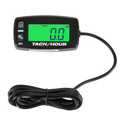 Resettable Inductive Tacho Hour Meter Tachometer Works on 2/4 stroke gas engines