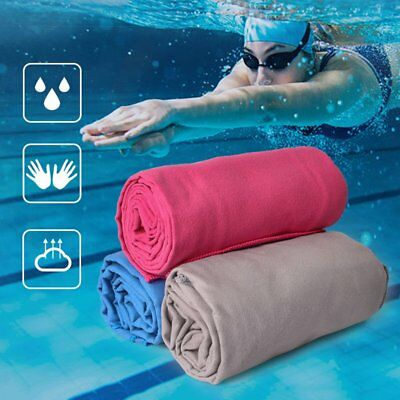 Outdoors Quick Dry Travel Towel Compact Camping Solid Color Microfiber Towel W0