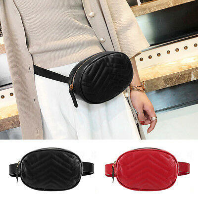 Women Holiday Bum Bag Chest Fanny Leather Pack Travel Waist Belt Pouch Wallet