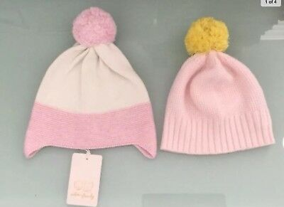 Wilson and Frenchy Baby Girl Pom-poms Beanie size Large