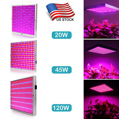 45W 120W LED Grow Light Panel Red Blue lamp Indoor Veg Flower Hydroponic Plant