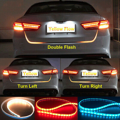 RGB LED Light Strip For Car Styling 7Color Flow Trunk Tail Turn Signal Light