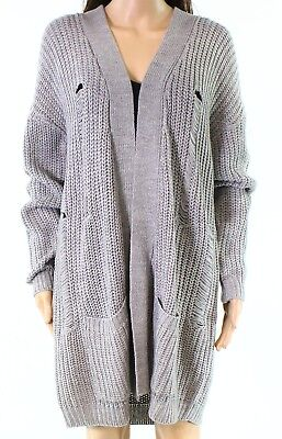e11609ce88 RDI NEW Gray Womens Size Large L Knitted Distressed Cardigan Sweater  96 150