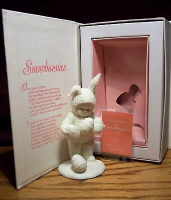 "1994 DEPT 56 SNOWBUNNIES ""Oops I Dropped One"" #2601 EASTER EGG SNOWBUNNY IN BOX"