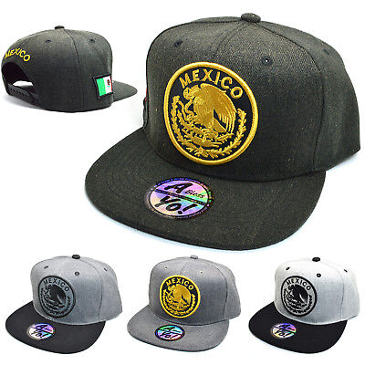 49acca155c3 MEXICAN hat MEXICO Federal Logo Embroidered Snapback Baseball cap Flat bill  6003