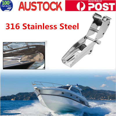 316 Stainless Steel Boat Hinged Bow Spirit Anchor Roller Quick Release AU