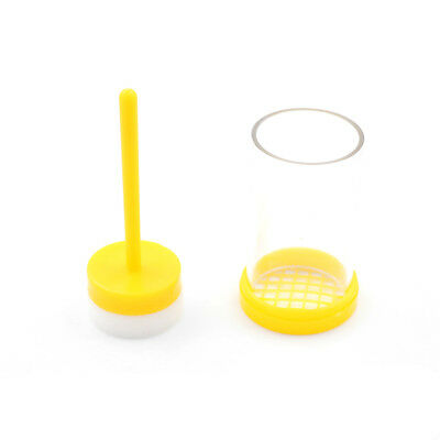 1Pcs Queen Bee Marker Marking Cage Bottle with Soft Plunger Beekeeping Tackle  I