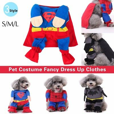 Pet Costume Dog Cat Halloween Dress Up Outfit Party Clothes Xmas Funny Apparel