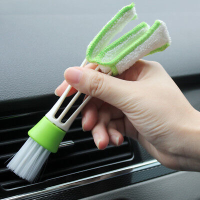 Mini Clean Car Indoor Air-condition Brush Tool Car Care Detailing For all car WU