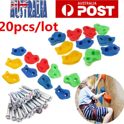 20pcs  Textured Climbing Rock Wall Stones Holds Hand Feet Kids Gift Assorted Kit