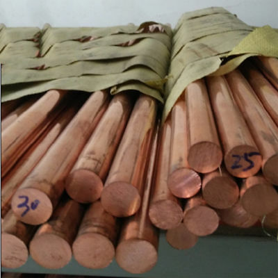 1PCS 99.9% Pure Copper Cu Metal Rods Cylinder Length 100mm, Diameter 6mm to 50mm
