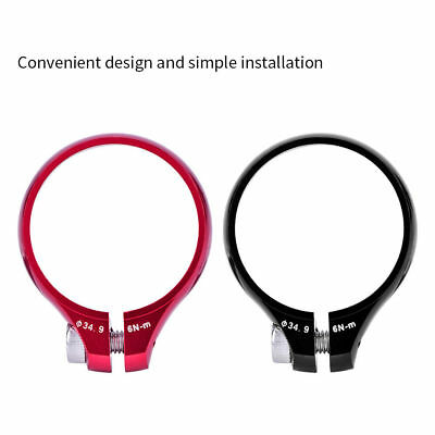 2Color Bicycle Cycling Seatpost Clamps Seat Clamp Collar MTB Road Bike Black New