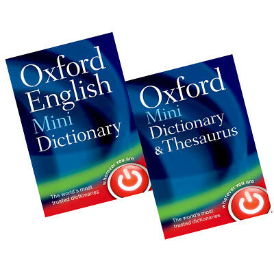 Oxford Mini Dictionary Collection 2 Books Set English Thesaurus BRAND NEW PACK