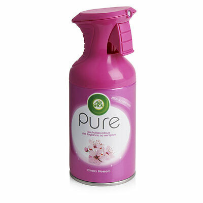 "3 x AIR WICK ""PURE"" SCENTS TRIGGER SPRAY AIR FRESHENERS - 250ml"
