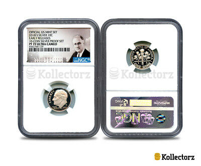 2018 S Roosevelt 10C Ngc Pf70 Ultra Cameo Portrait Label Early Releases!!