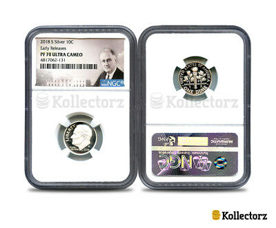 2018-S Silver Roosevelt Dime Ngc Pf70 Ultra Cameo Portrait Early Releases!!