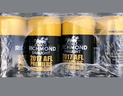 Richmond Tigers Premiership Carlton Draught Beer - Six pack