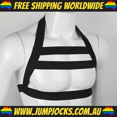 Black Chest Harness - Sex Gear Gay Fetish Leather Bondage